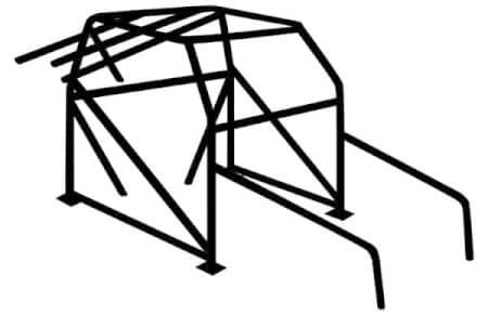 C/EC700 -12-Pt. Roll Cage: 1-5/8″ x .083″ Chrome moly