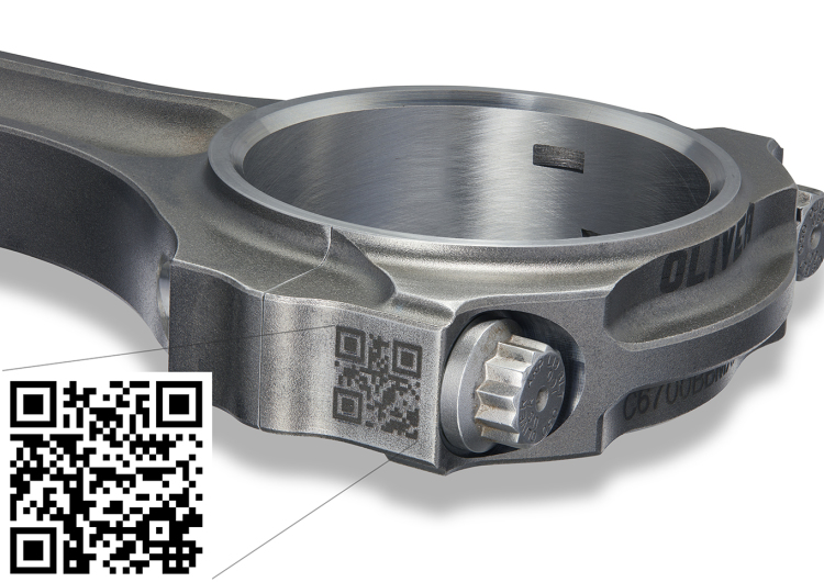 Connecting Rods with QR Code
