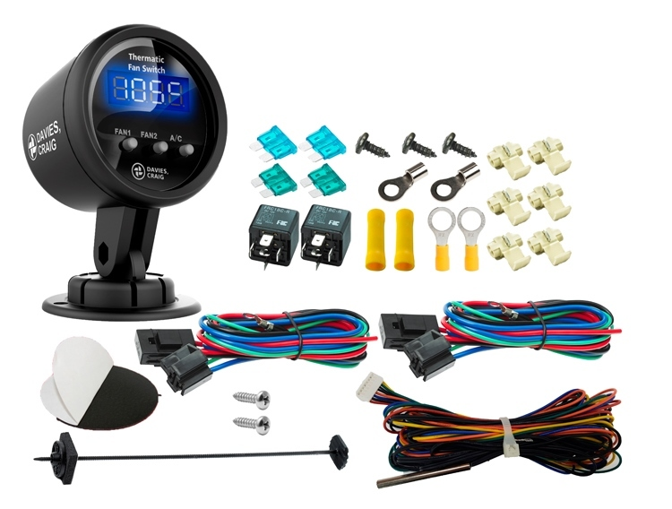 Digital Gauge Thermatic Fan & EWP Switch Kit