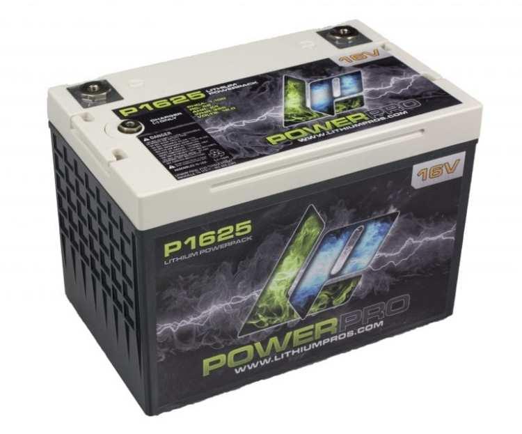 P1625 POWERPRO 16V 25AH Lithium Ion Racing Battery