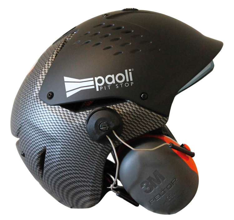 NEW PAOLI PIT STOP HELMET WITH NOISE PROTECTION EARMUFFS
