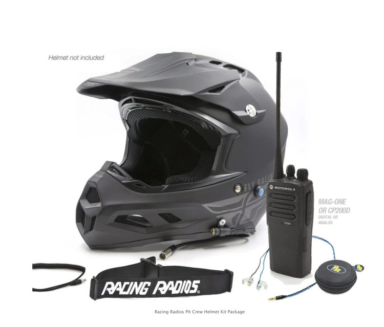 Pit Crew Two-Way Communications Helmet Kit Package