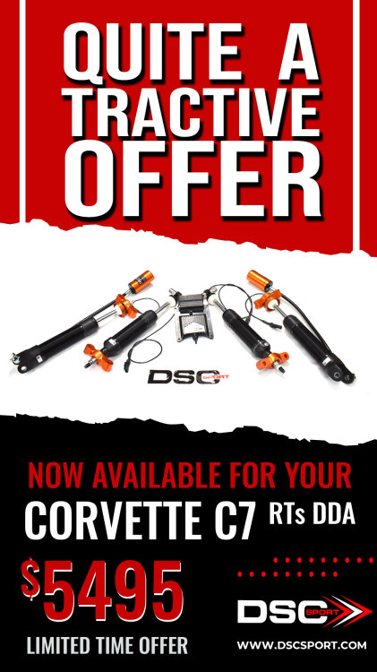 DSC Sport/Tractive RTs Active Suspension for Corvette C7
