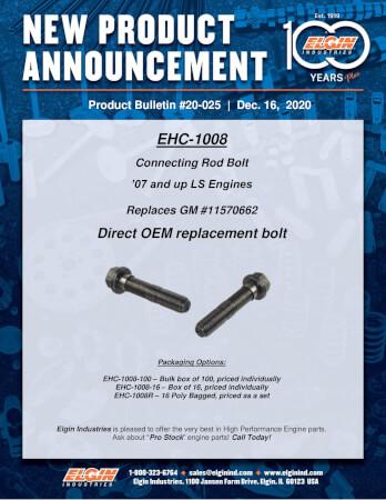 Elgin LS Engine : OEM Connecting Rod Bolts