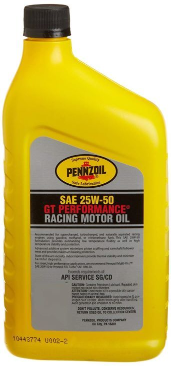 Pennzoil GT Performance Racing Motor Oil