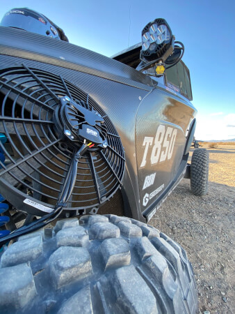 Direct OEM replacement Can-Am X3 Intercooler Fan & Shroud