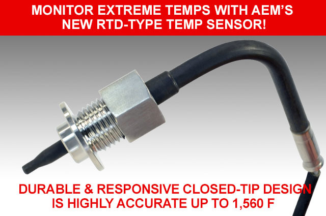 Monitor Extreme Temps with AEM's New RTD-Type Temp Sensor!