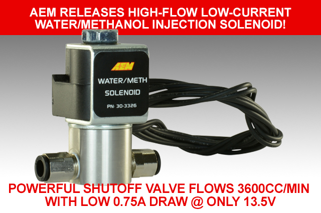 High-Flow, Low-Current Water/Methanol Injection Solenoid