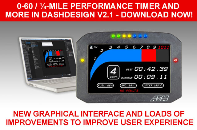 0-60, ¼-MILE PERFORMANCE TIMER AND MORE IN DASHDESIGN V2.1!