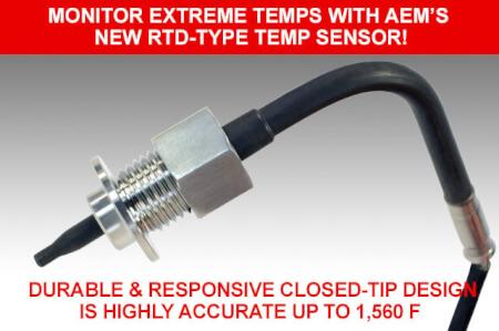 Monitor Extreme Temps with AEM's New RTD-Type Temp Sensor!