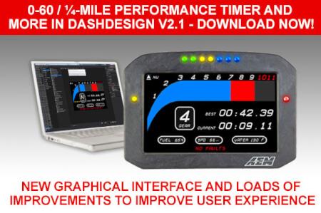 0-60, ¼-MILE PERFORMANCE TIMER AND MORE IN DASHDESIGN V2.1!