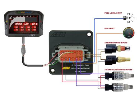 6 Channel CAN Sensor Module